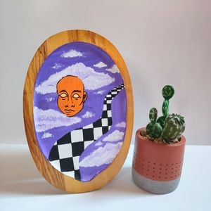 """🎨""""A WORLD UNKNOWN"""" WOOD PAINTING"""